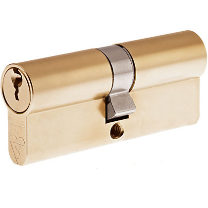 Image for Yale Kitemarked Euro Double Cylinder - 35:10:35 (80mm) - Brass Finish from StoreName