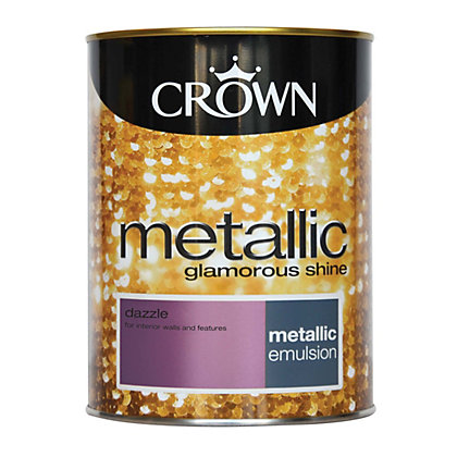 Image for Crown Fashion For Walls Dazzle - Metallic Emulsion Paint - 1.25L from StoreName