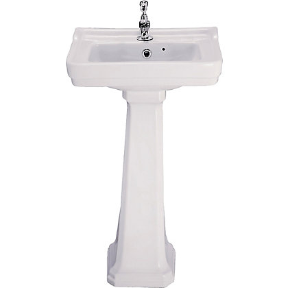 Image for Lincoln Cloakroom Basin and Full Pedestal from StoreName