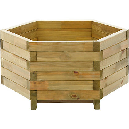 Image for Hexagonal Garden Planter - Wooden from StoreName