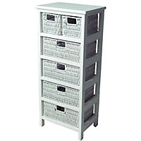 6 Drawer Storage Unit - White