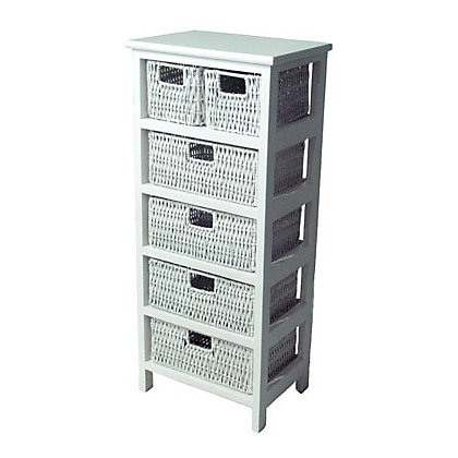 Image for 6 Drawer Storage Unit - White from StoreName