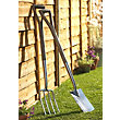Qualcast Traditional Stainless Steel Garden Border Fork