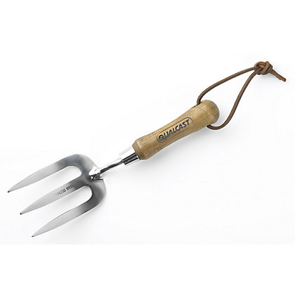 Image for Qualcast Traditional Stainless Steel Garden Weed Fork from StoreName