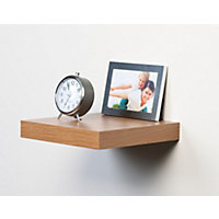Duraline Floating Display Shelf - Knotty Oak