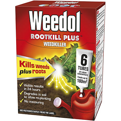 Image for Weedol Rootkill Plus Liquid Concentrate Weedkiller 6 Tubes - 150ml from StoreName