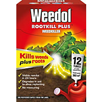 Weedol Rootkill Plus Liquid Concentrate Weedkiller 12 Tubes - 300ml