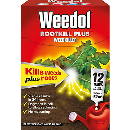 Image for Weedol Rootkill Plus Liquid Concentrate Weedkiller 12 Tubes - 300ml from StoreName