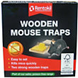 Rentokil Wooden Mouse Trap - Twin Pack