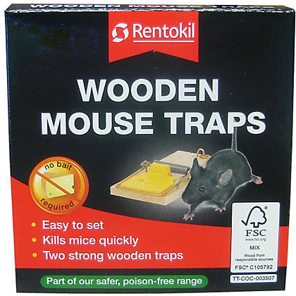 Image for Rentokil Wooden Mouse Trap (Pack of 2) from StoreName