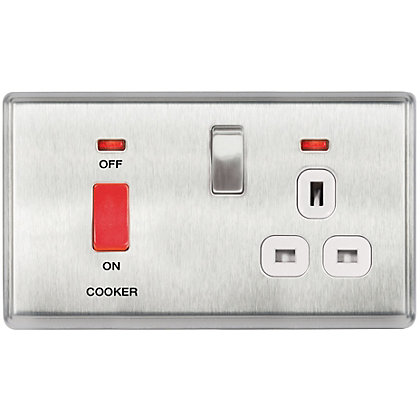 Image for Laura Ashley 45A Cooker Control Unit - Brushed Stainless Steel from StoreName