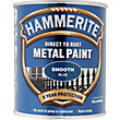 Hammerite Direct To Rust Smooth Blue Metal Paint - 750ml