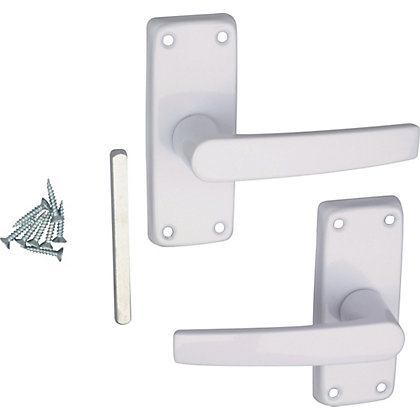 Image for Lever Latch Door Handle - White - 1 Pair from StoreName