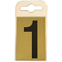 House Number Plate - Black and Gold - 1