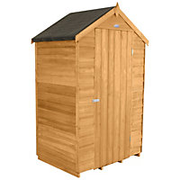 Forest Natural Timber Dip Treated Overlap Windowless Shed with Apex Roof - 6ft x 4ft x 3ft.