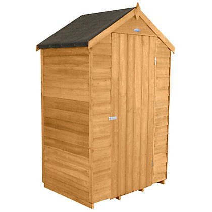 Image for Forest Natural Timber Dip Treated Overlap Windowless Shed with Apex Roof - 6ft x 4ft x 3ft. from StoreName