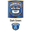 Hammerite Dark Green - Exterior Smooth Metal Paint - 250ml