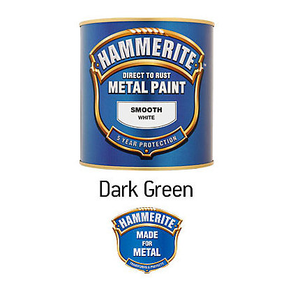 Image for Hammerite Dark Green - Exterior Smooth Metal Paint - 250ml from StoreName