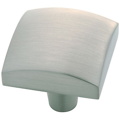 Image for Square Pillow Knob - Satin Nickel from StoreName