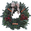 Natural Decorated Wreath 12in