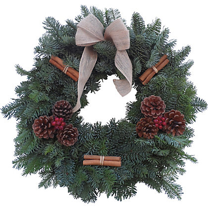 Image for Natural Decorated Wreath 12in from StoreName