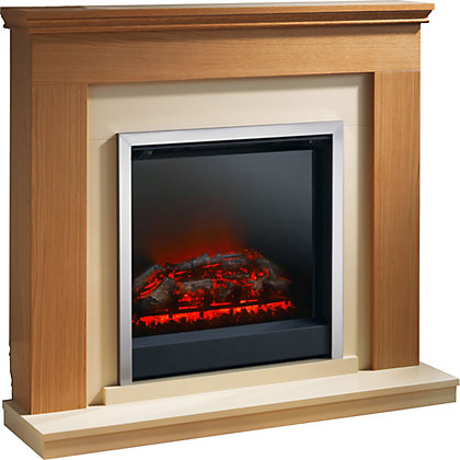 Image for Durham Electric Fire Suite - Natural Oak from StoreName