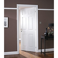 Colonial 6 Panel White Painted Internal Door - 762mm Wide