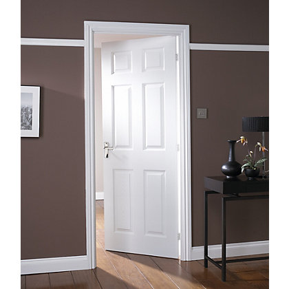 Image for Colonial 6 Panel White Painted Internal Door - 762mm Wide from StoreName