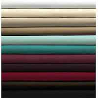 Percale Fitted Sheet - Dark Red - Single