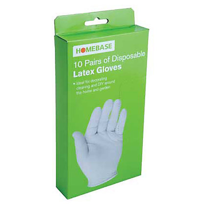 Image for Homebase Value Disposable Un -Powdered Latex Gloves - 10 pack from StoreName