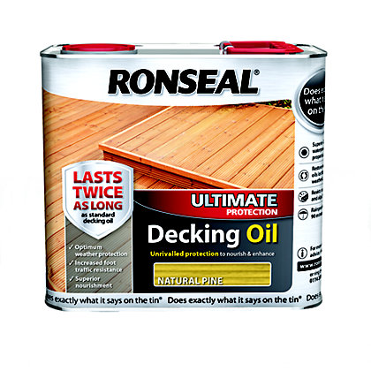Image for Ronseal Ultimate Protection Decking Oil - Natural Pine - 2.5L from StoreName