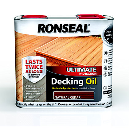 Image for Ronseal Ultimate Protection Decking Oil - Natural Cedar - 2.5L from StoreName
