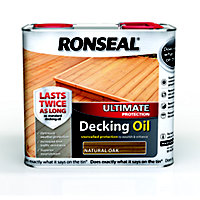 Ronseal Ultimate Protection Decking Oil - Natural Oak - 2.5L