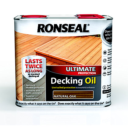 Image for Ronseal Ultimate Protection Decking Oil - Natural Oak - 2.5L from StoreName