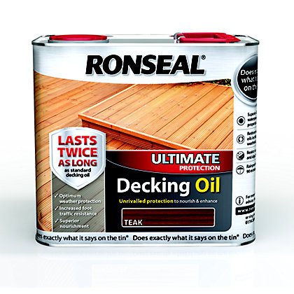 Image for Ronseal Ultimate Protection Decking Oil - Teak - 2.5L from StoreName