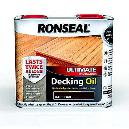 Image for Ronseal Ultimate Protection Decking Oil - Dark Oak - 2.5L from StoreName