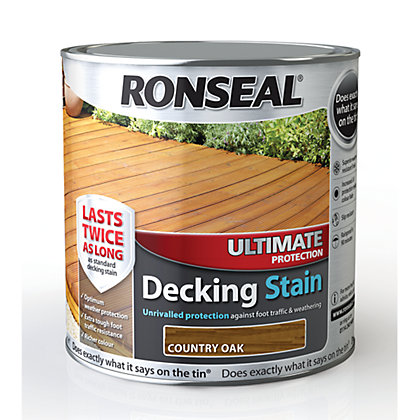 Image for Ronseal Ultimate Protection Decking Stain Country Oak - 2.5L from StoreName