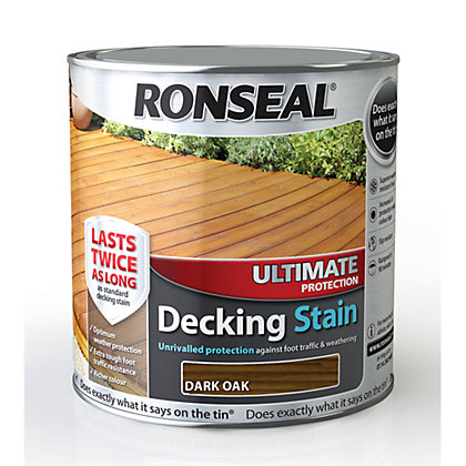Image for Ronseal Ultimate Protection Decking Stain Dark Oak - 2.5L from StoreName