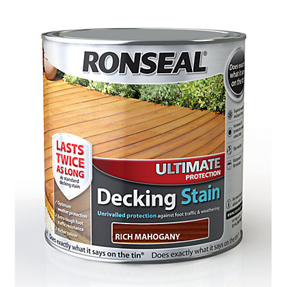 Image for Ronseal Ultimate Protection Decking Stain Mahogany - 2.5L from StoreName