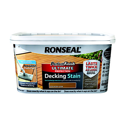 Image for Ronseal Perfect Finish Ultimate Decking Stain Country Oak from StoreName