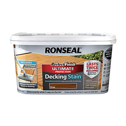 Image for Ronseal Perfect Finish Ultimate Decking Stain Teak from StoreName