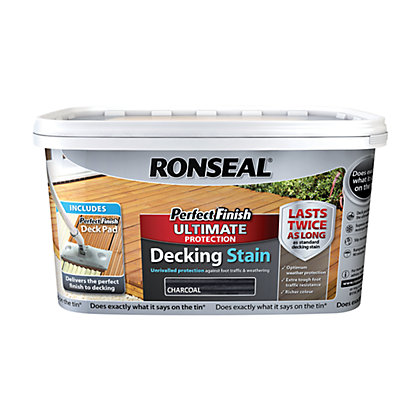 Image for Ronseal Perfect Finish Ultimate Decking Stain Charcoal from StoreName