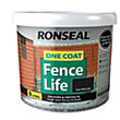 Ronseal One Coat Fence Life Tudor Black Oak - 9L
