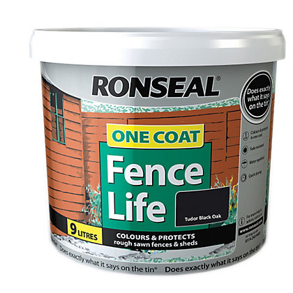 Image for Ronseal One Coat Fence Life Tudor Black Oak - 9L from StoreName