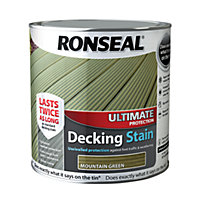Ronseal Ultimate Protection Decking Stain Mountain Green - 2.5L