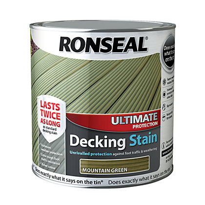 Image for Ronseal Ultimate Protection Decking Stain Mountain Green - 2.5L from StoreName