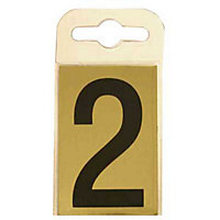 House Number Plate - Black and Gold - 2