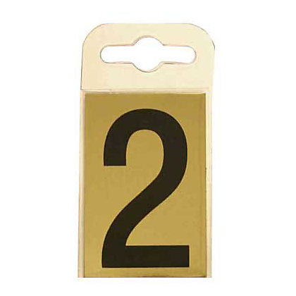 Image for House Number Plate - Black and Gold - 2 from StoreName