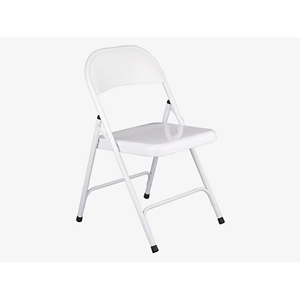 Image for Habitat Macadam Folding Chair - White from StoreName