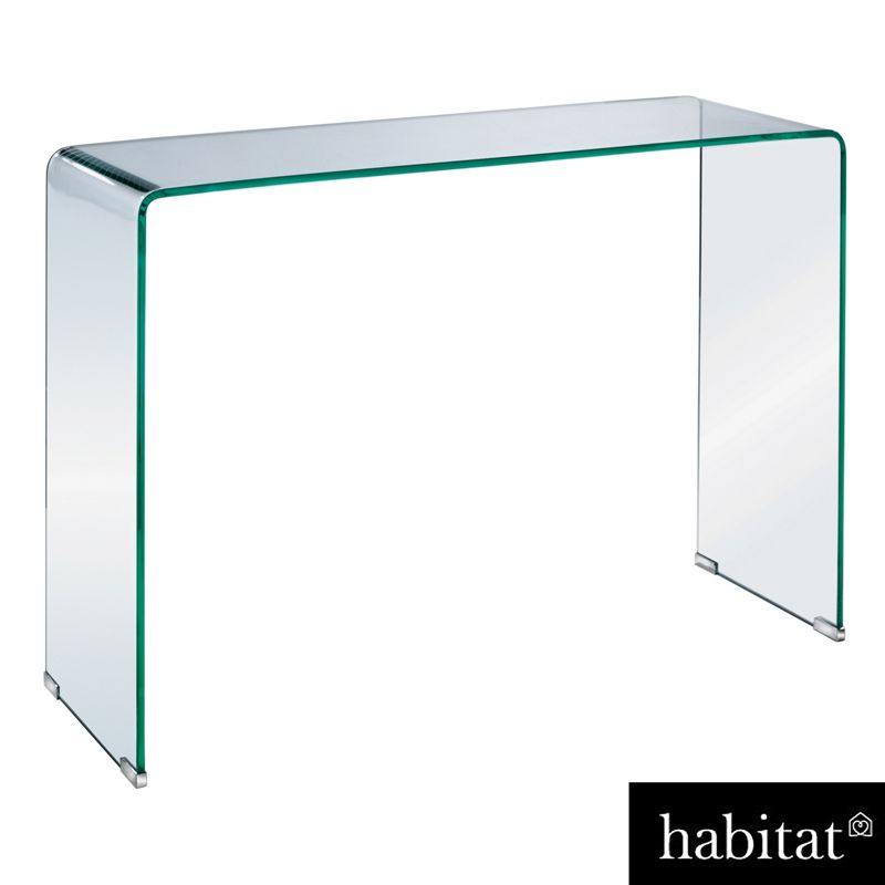 habitat gala glass console table. Black Bedroom Furniture Sets. Home Design Ideas